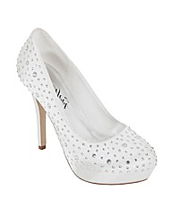 Perfect Bella Diamante Detail Court Shoe