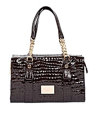 Claudia Canova Krokoteanta Shoulder Bag