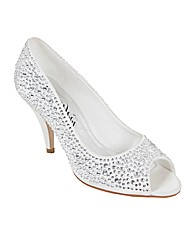 Perfect Jenna Diamante Peep Toe Shoe