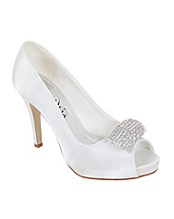 Perfect Marquita Diamante Trim Peep Toe