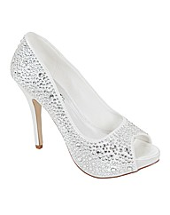 Perfect Sarah Diamante Peep Toe Court