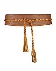 Malissa J Plait And Tassel Waist Belt