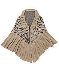 Malissa J Animal Print Shawl