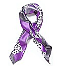 Malissa J Animal Patch Satin Scarf
