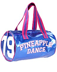 Pineapple Metallic Barrel Shaped Gym Bag