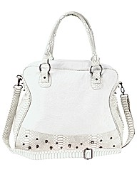 Religion Studded Sloughy Shoulder Bag