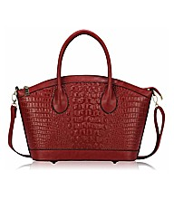 Petal Dolls Mock Croc Tote Bag