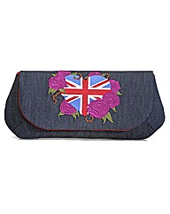 Spencer Ogg Union Jack Denim Clutch Bag