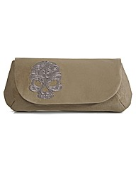 Spencer Ogg Tan Skull Clutch Bag