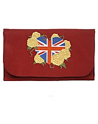 Spencer Ogg Red Union Jack Clutch Bag