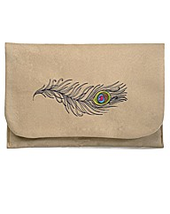 Spencer Ogg Peacock Feather Clutch Bag