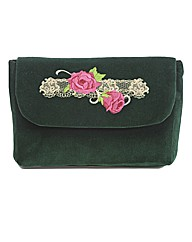 Spencer Ogg Velvet Rose Clutch Bag