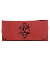 Spencer Ogg Skull Envelope Clutch Bag