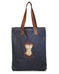 Spencer Ogg Denim Corset Tote Bag