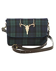 Spencer Ogg Tartan Stag Cross Body Bag