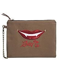 Spencer Ogg Bite Me Zip Clutch Bag