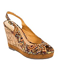 Strawberry Paisley Cork Wedges