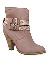 Strawberry Cowboy Ankle Boots