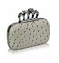 Petal Dolls Ostrich Skin Clutch Bag