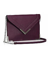 Petal Dolls Purple Letter Clutch Bag