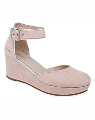 Strawberry Closed Toe Ankle Bar Wedges
