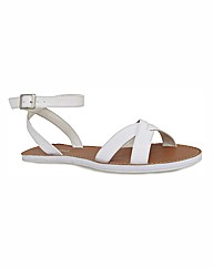 Strawberry Cross Over Flat Sandals