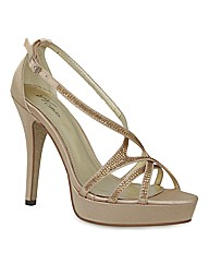 VT Collection Diamante Platform Sandals