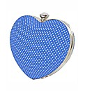 VT Collection Heart Satin Clutch Bag