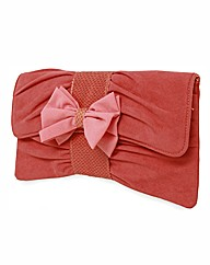 VT Collection Faux Suede Clutch Bag