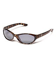F-Polarised Oval Wrap Sunglasses