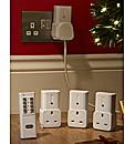 Set of Four Remote Control Plug Sockets