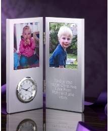 Personalised Photo Frame Message Clock