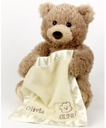 Personalised Gund Peek A Boo Teddy Bear