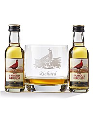 Personalised Whisky Goblet & Miniatures