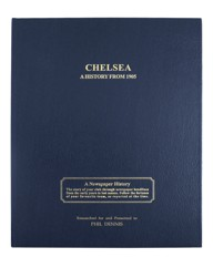 Blue Leather Personalised Football Book