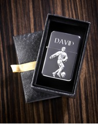 Personalised Pewter Motif Sport Lighter