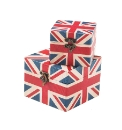 Set Of 2 Union Flag Trinket Boxes