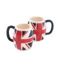 Set Of 2 Union Jack Mugs