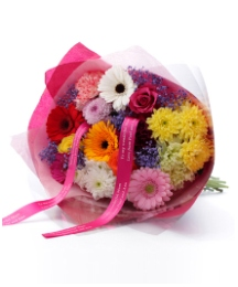Personalised Ribbon Bright Bouquet