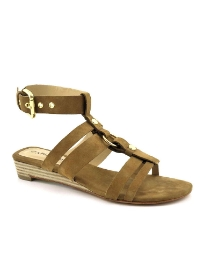 Cafe Noir Natural Suede Sandals