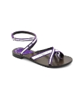 Cafe Noir Purple Silver Sandals