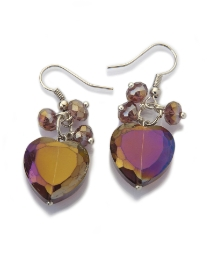 Malissa J Modena Heart Drop Earrings