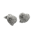 Malissa J Pear Heart Post Earrings