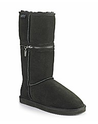 Redfoot Black Zippy Boot