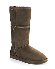 Redfoot Chocolate Zippy Boot