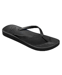 Gumbies Black Mens Fish Flop
