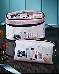 Boudoir Vanity Case & Make-up Bag Set
