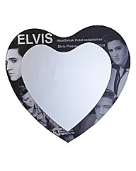 Elvis Heart Glass Mirror