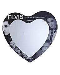 Elvis Heart Glass Mirror