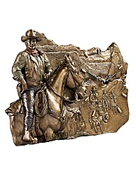The Duke Bronzed Wall Clock